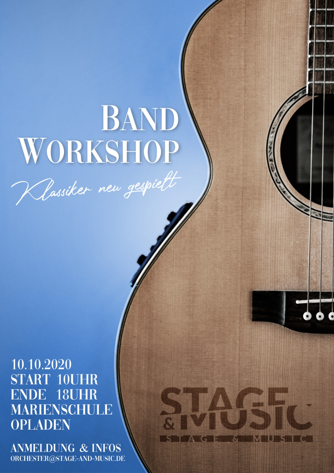 Bandworkshop am 10.10.2020